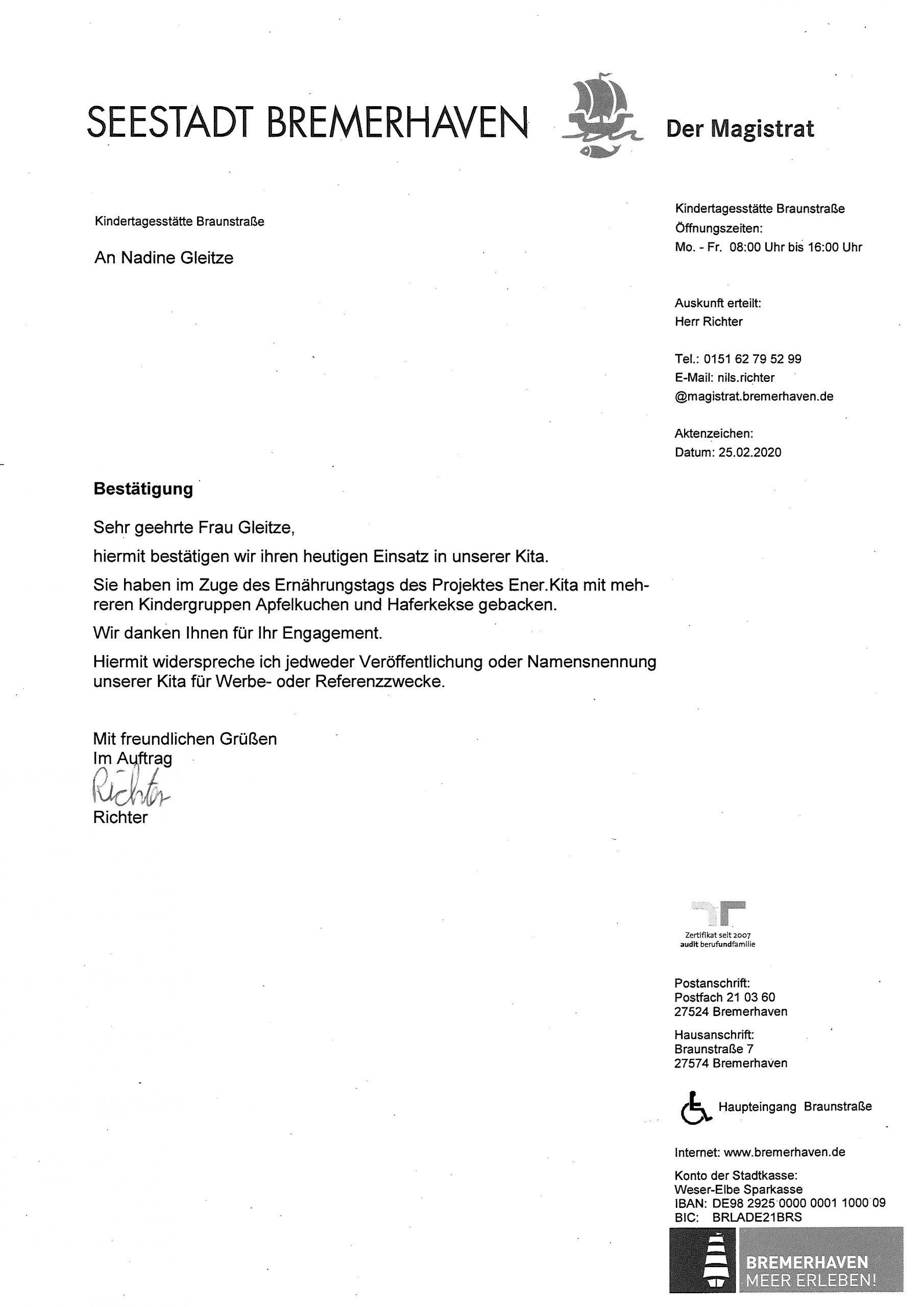 Empfehlung Magistrat 1