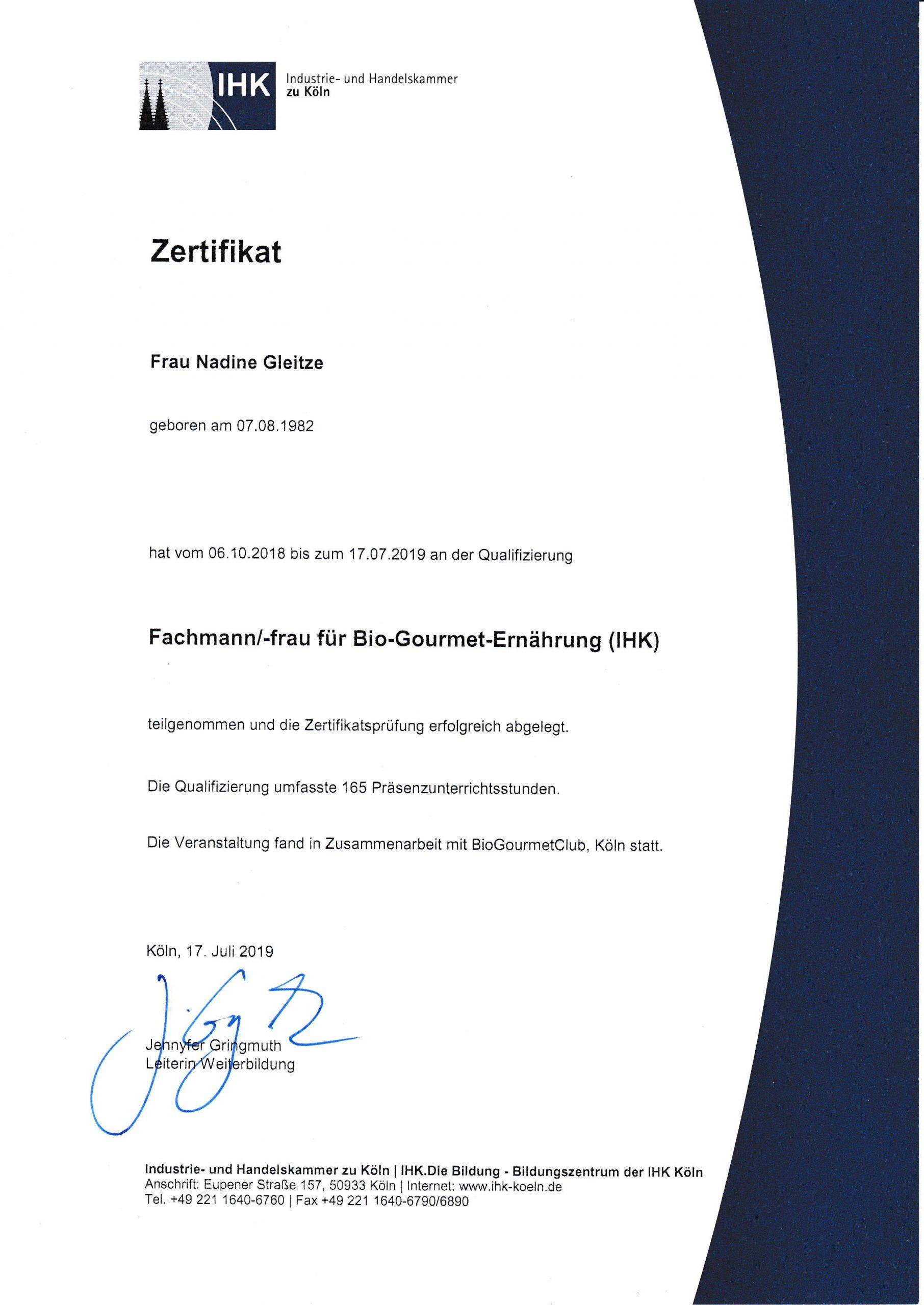 Zertifikat Fachfrau Bio Ernährung(1)